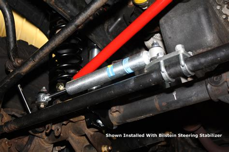 Replacing Steering Stabilizer Jeep Wrangler Front Steering Stabilizer Relocation Kit Jeep Jk Wrangler