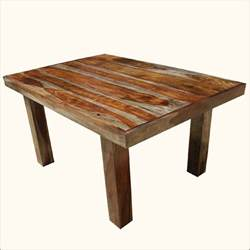 Kitchen Tables Rustic Wood - 60 quot solid wood contemporary rustic dining room table