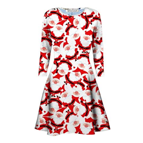 swing dress size 24 new ladies santa gift printed christmas party skater swing