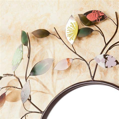 decorative leaf mirror decorative metallic leaf wall mirror home