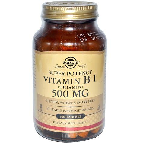 Vitamin B1 Solgar Vitamin B1 Thiamin 500 Mg 100 Tablets Iherb