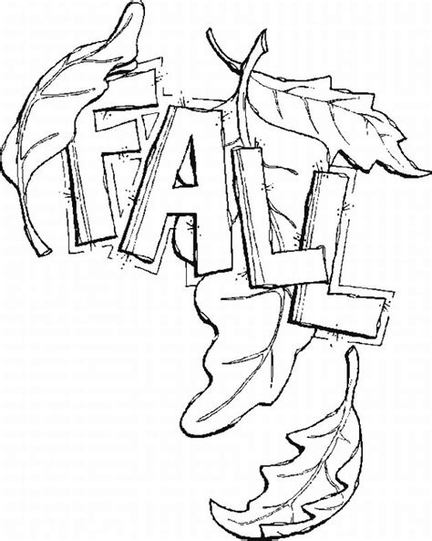 coloring page of a fall leaf fall leaves coloring book