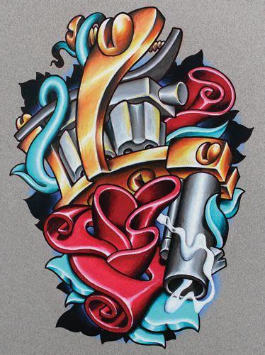 new school tattoo needles cool new school tattoo flash of a sweet tattoo machine