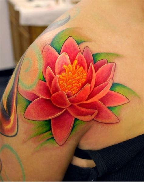 bright flower tattoo designs 1000 ideas about lotus shoulder on
