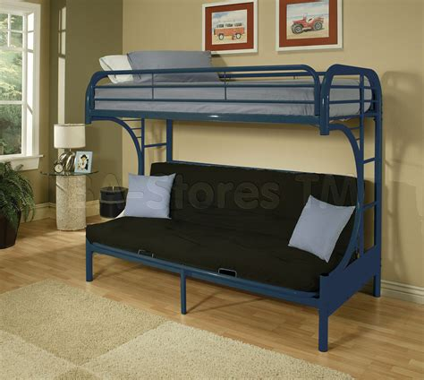 Twin Over Futon Bunk Bed With Mattress Included Bunk Bed With Mattresses Included