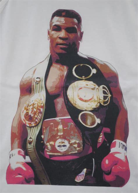 Mike Tyson Criminal Record Zoo Mike Tyson Belt Boxer White Crew Neck Vest Ebay