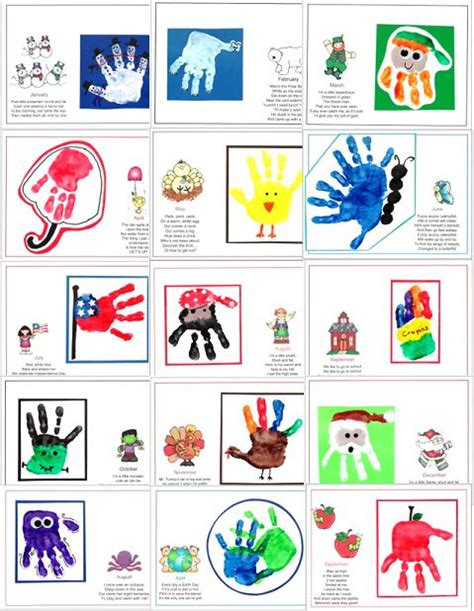 handprint calendar template 2018 25 best ideas about presents for parents on