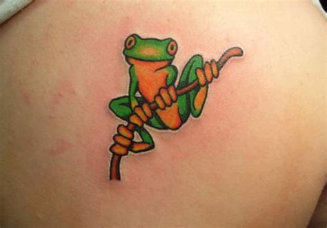 small frog tattoo 32 frog tattoos creativefan
