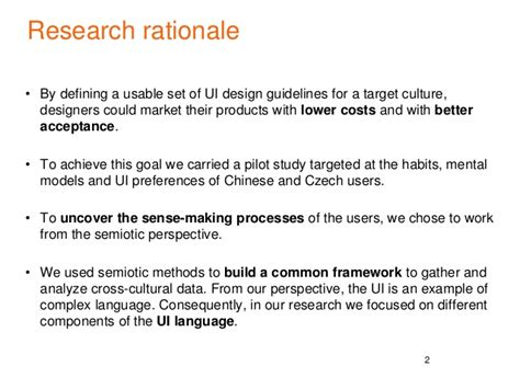 rationale sle for thesis research paper rationale exle 28 images research