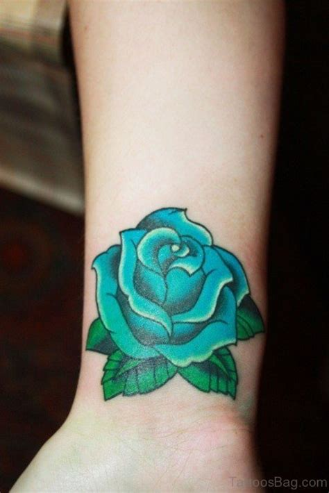 green rose tattoos 52 wrist colorful designs
