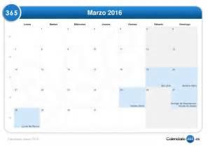 Calendario Semana Calendario Marzo 2016