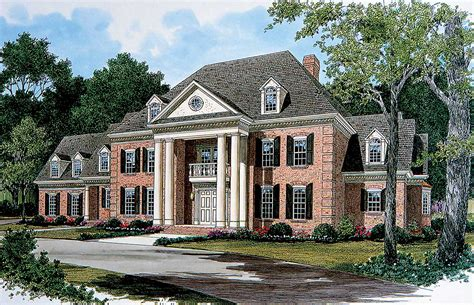 georgian home plans stately georgian manor 17563lv architectural designs house plans