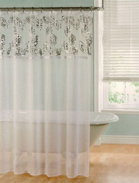 bathroom sheer curtains choosing the best shower valances unique shower curtains