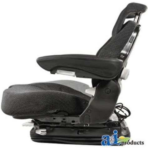 bolstered grammer suspension seat w isolator msg95741grc grammer seat assembly charcoal matrix cloth