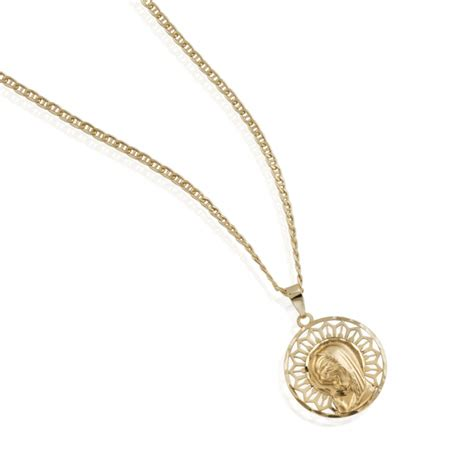 cadenas de oro para ninas medalla de virgen ni 241 a y cadena de oro