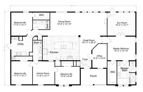 new new manufactured homes floor plans new home plans design