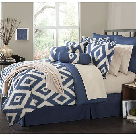 16 comforter set durham navy blue soutwest ensemble