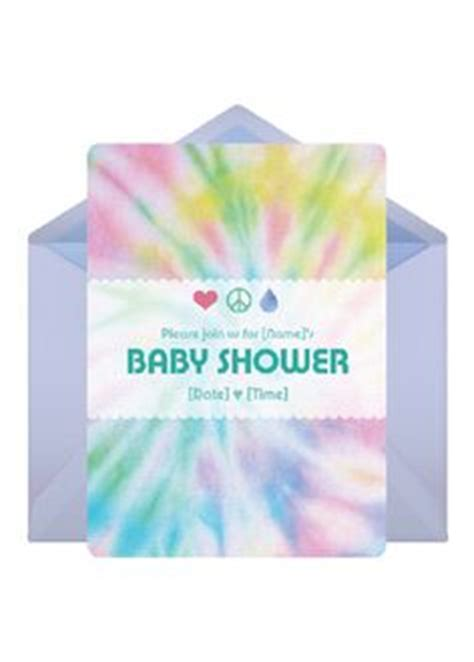 Tie Dye Baby Shower Invitations by Hippie Baby Shower On Hippie Baby