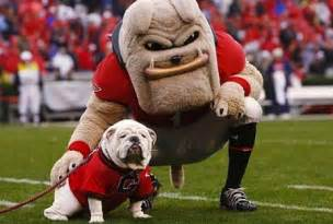 The best bulldog mascot in college football is without a doubt uga