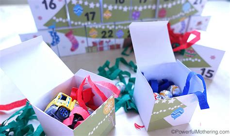 printable advent calendar boxes diy boxes advent calendar with free printable
