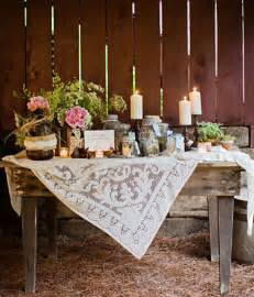 You are going to have a non traditional and distinctive rustic wedding