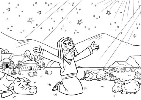abrahams promise coloring page bible coloring