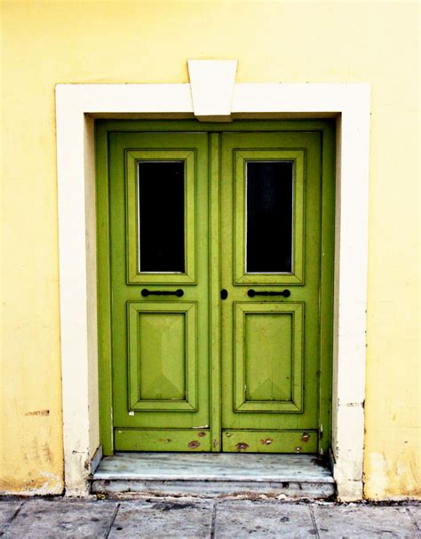 lime green door door photography green door photograph athens greece photo
