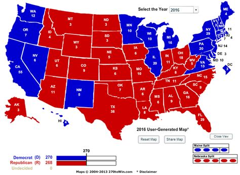 2016 presidential map larry j sabato s 187 the map 11 angles on the electoral college