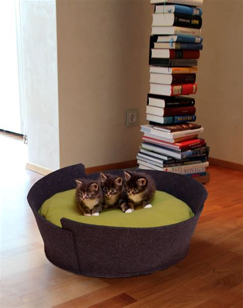 modern cat beds modern cat beds made from leather or felt in best quality