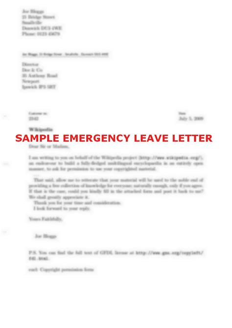 sample leave letters emergency letter best ideas of my boss with