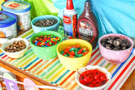 toppings for ice cream bar ice cream bar summer popsicle banner design dazzle