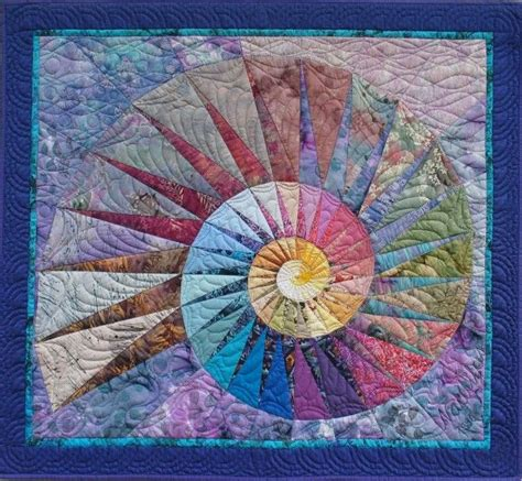 Seashell Quilt Pattern by Quot Nautilus Quot By Martha Roggli Quilt Spirals Fractals