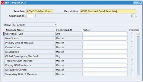 material design form group oracle e business suite creating items in inventory