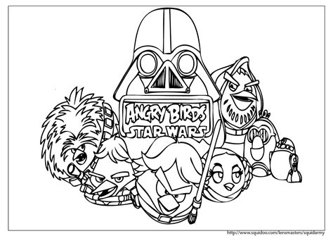 happy birthday star wars coloring pages angry birds star wars coloring pages birthday ideas 11373