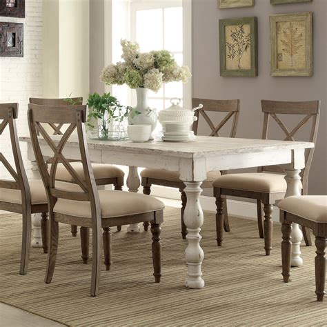 white dining room table and chairs aberdeen wood rectangular dining table and chairs in