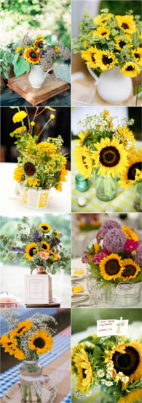 sunflower centerpieces for wedding 30 most beautiful wedding centerpieces for 2016 fall