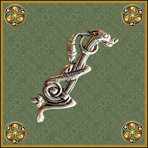 zoomorphic celtic brooch celtic hounds pin