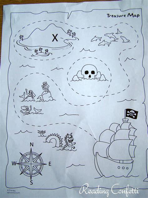 printable maps for crafts preschool treasure maps reading confetti