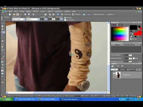 corel paint shop pro x2 tutorial changing shirt color