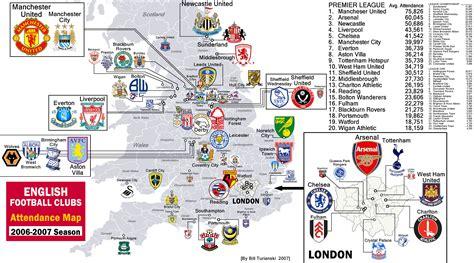 map of premier league teams location of premier league teams epl teams