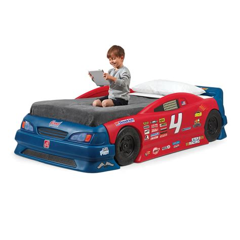 toddler race car bed step2 stock car convertible bed sale