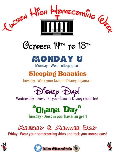 theme names for days of the week spirit week ideas homecoming google search pinteres