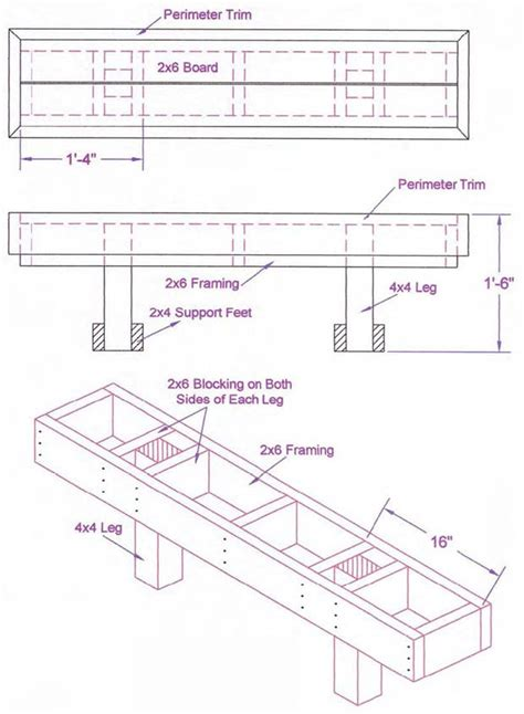 bench seating plans pdf plans wooden deck bench plans download free log porch