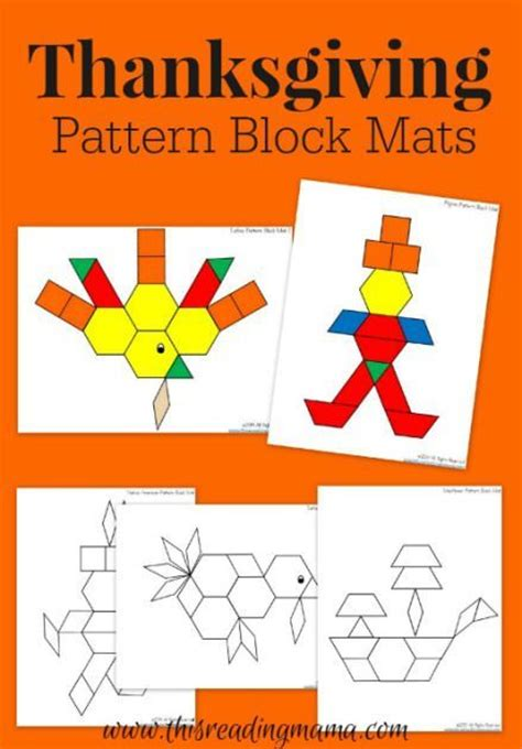 pattern block pictures kindergarten thanksgiving mats for pattern blocks pattern blocks