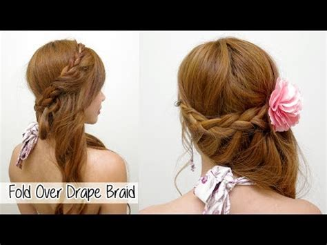 wedding hairstyles with braids youtube elegant fold over drape braid l prom wedding hairstyles