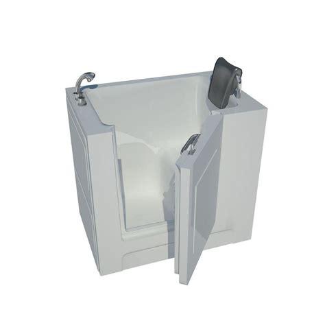 3 ft bathtub universal tubs 3 3 ft left drain walk in bathtub in white hd2739lws the home depot
