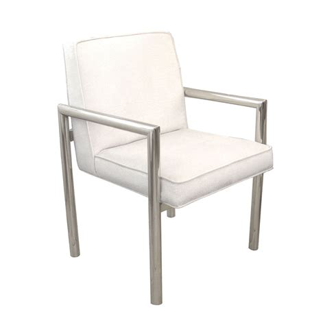 Tubular Dining Chairs Set Of Eight Tubular Chrome Dining Chairs With Upholstered Seat And Back Dining Chairs