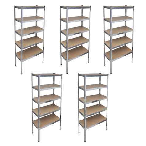Shelf Racks Garage by Storage Rack Garage Storage Shelf 5 Pcs Vidaxl