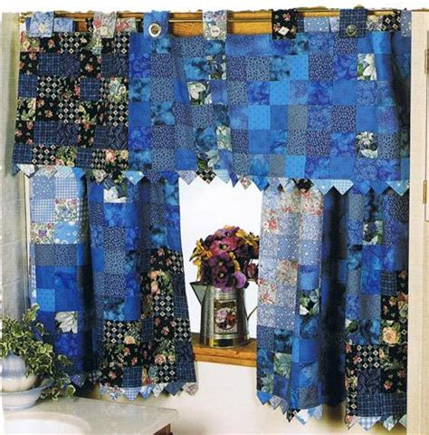 window quilt curtains blue quilted valance images