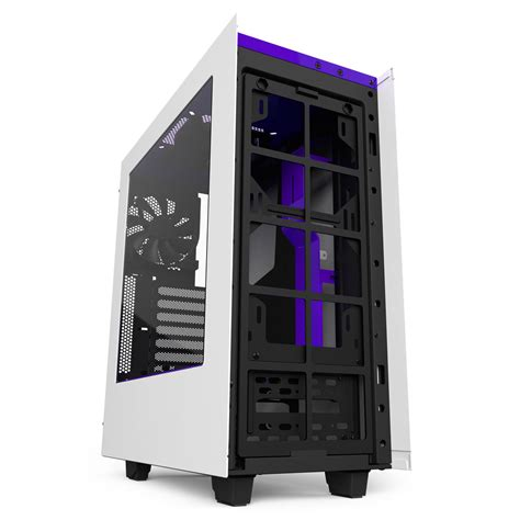 Nzxt S340 White nzxt s340 white purple mid tower gaming